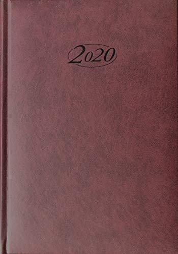 Stylex 43765 Buchkalender 2020 Chefkalender A5 Timer Bordeaux