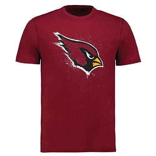 Fanatics NFL Football T-Shirt Arizona Cardinals Splatter Logo (L)