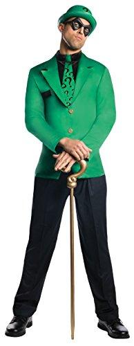 Rubie's Men's Dc Super Villains Adult Riddler, Green/Black, Large