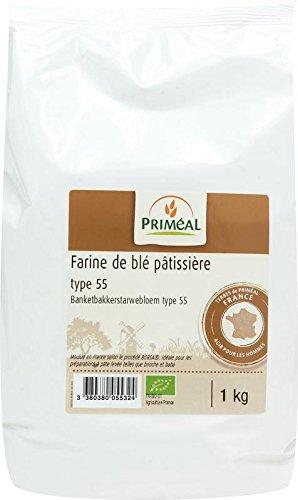 Priméal Farine de blé pâtissière type 55 - Bio - 1kg