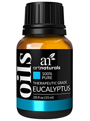 ArtNaturals 100% Pure Eucalyptus Essential Oil - (.5 Fl Oz / 15ml) - Undiluted Therapeutic Grade Fragrance - Soothe Calm and Humidify - for Aromatherapy Diffuser, Steam Room, Suana, HUmidifier