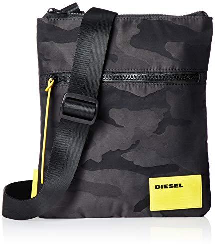 Diesel Bolso caballero, F-Discover, Bolso Crossbody 23x26x2cm - Negro