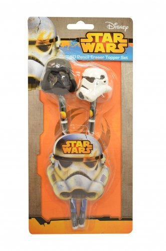 Charakter Star Wars 3D Radiergummi Topper Bleistift und Set Stationery
