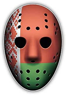 Venu67Hol Belarus Flag Ice Hockey Goalie Mask Home Decal Vinyl Sticker 3'' X 5''
