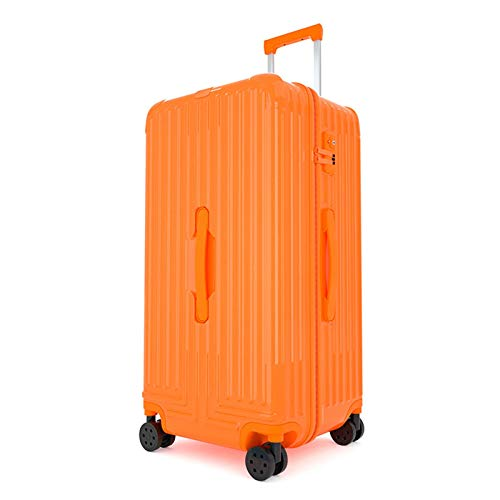 Large Capacity Luggage, High Quality Lightweight Waterproof Strong and Sturdy with Spinner Wheels TSA Lock Luggage for Tourism Vacation Camping Storage-38x33x77cm-Orange