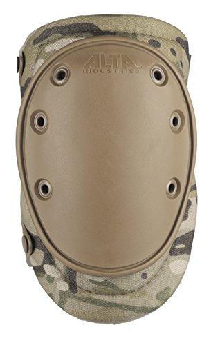 ALTA 50453.16 AltaFLEX Gel Insert Heavy Duty Knee Protector Pad, MultiCAM Cordura Nylon Fabric, AltaLOK Fastening, Flexible Cap, Long, Coyote