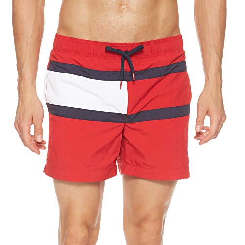 Tommy Hilfiger Herren Medium Drawstring Shorts, Rot (RED 611), X-Large