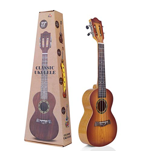 """Metro Toy's & Gift Plastic 23"""" 4 String Decor Musical Instrument Educational Toy Small Guitar for Beginners Kids, Children (Colour May Vary)"""