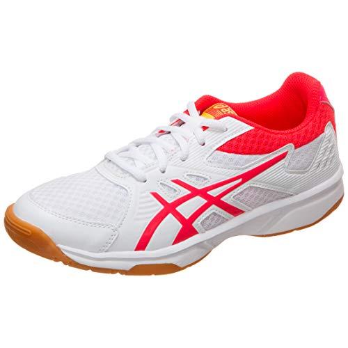 Asics Upcourt 3, Zapatos de Squash Mujer, Blanco (White/Laser Pink 104), 44.5 EU