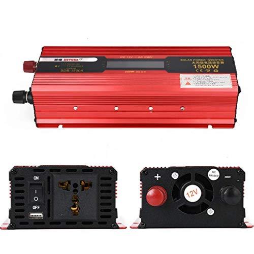 LYHY Inversor automotriz 1500 vatios, inversor DC 12V / 220V, con Pantalla USB Plug-and-Play Universal para campistas Inversores 12VTo220V