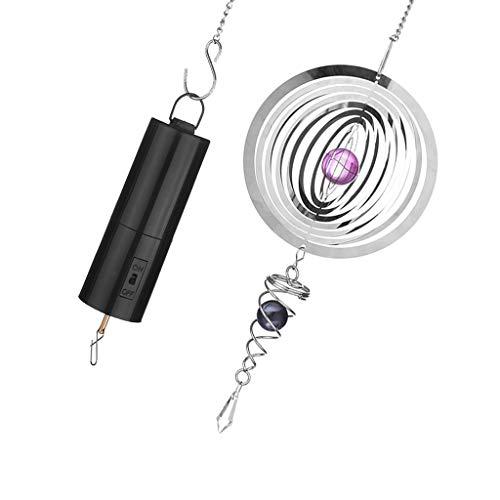 KESOTO Windspiel Windspinner mit Batterie Motor für Edelstahl Windspiele, gleichmäßig drehend - Rundheit