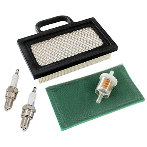 AISEN Service Kit filtro dell'aria candela di accensione per motore Briggs Stratton 406777 4025A7 403677 404577 4045A7 18HP - 20HP OHV V-Twin sostituisce 499486, 499486S