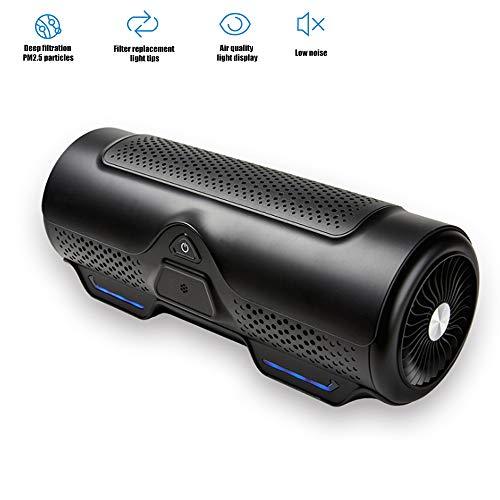 El purificador del aire del coche, difusor del aceite esencial del ambientador de aire del coche, purificador del ambientador de aire del ambientador de aire del hogar, elimina el polvo,Black