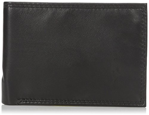 Buxton Men's Emblem Double Id Billfold Wallet, Black, One Size