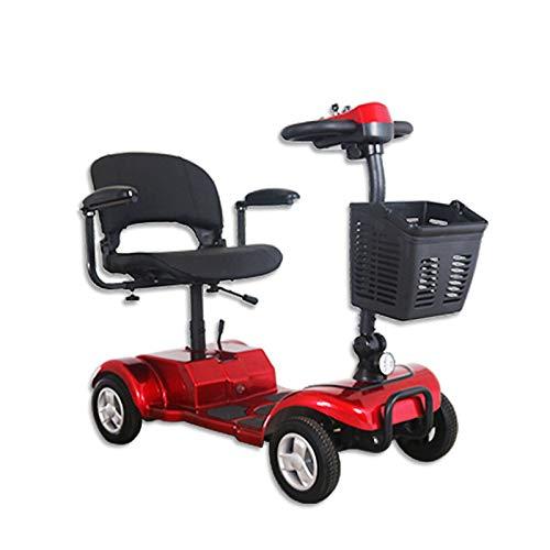 LINGZE Scooters para Adultos, Patinete Plegable de 4 Ruedas, Mecanismo de absorción...