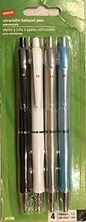 Staples Retractable Ballpoint Pens, 4-pack