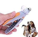 WXJHA Cortaúñas Perro Mascota, Profesionales de 5X Lupa de Seguridad LED para Mascotas Perros Gatos Trimmer Cortador del Clavo Clippers Seguridad del Perro Tijeras de Corte Herramientas Amoladoras