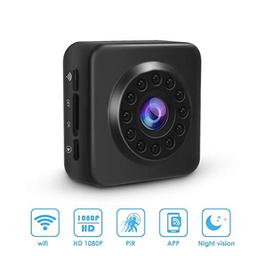 WiFi Mini Oculto cámara espía inalámbrica HD 1080P cámara de vigilancia de Seguridad con visión Nocturna, detección de Movimiento ( Color : +32G Memory Card )