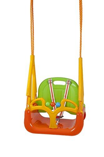 BabyGO 9601 - Schaukel Doremi 3 in 1 bis 100 kg geprüft, Outdoor Spielgerät, grün/orange