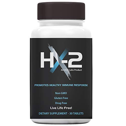 HX-2 - from HerpesX - All Natural Herpes and Cold Sore Treatment - Stops Herpes and Cold Sore Outbreaks Before They Occur - Non GMO, Gluten Free, Drug Free - Made in The USA