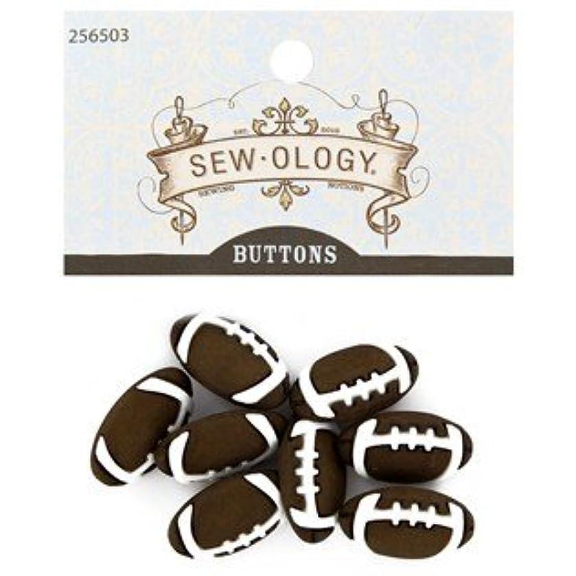 Brown Football Shank Buttons
