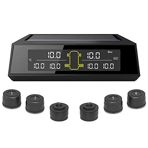 Elikliv Camión Neumático Presión Sistema de Monitoreo Inalámbrico TPMS Presión de Neumáticos Con 6 Externo Sensores Y Digital LCD Pantalla Para Coche Camión