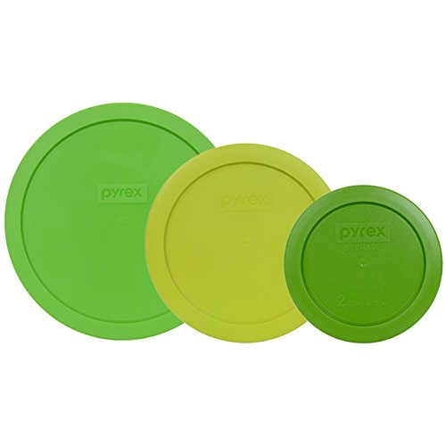 Pyrex 7402-PC (1) Green 1121644 7 Cup & 7201-PC (1) Edamame Green 1119280 4 Cup & 7200-PC (1) Lawn Green 1126210 2 Cup Lid (3-Pack)