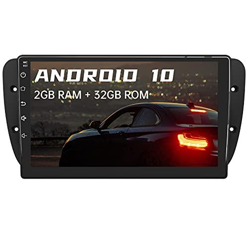 AWESAFE Android 10.0 [2GB+32GB] 9 Pulgadas Radio Coche para Seat Ibiza 6J 2009-2013,Pantalla Tactil para Coche con WiFi/Bluetooth/GPS/DSP/FM Am/USB/RCA, Apoyo Mandos Volante, Aparcamiento,Mirror Link