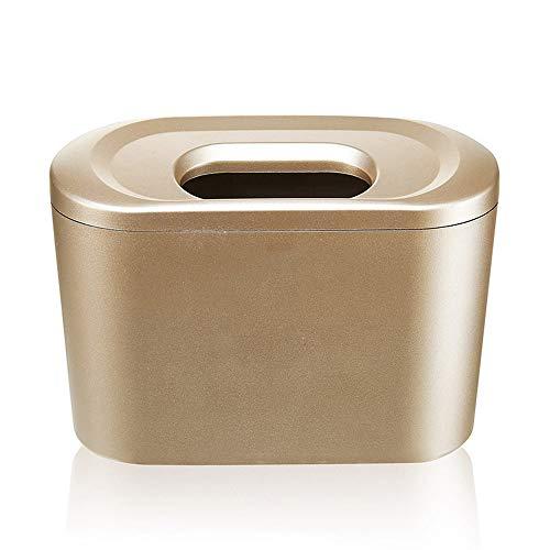 SSZZ Mini draagbare opknoping auto vuilnisbak met deksel, auto opbergdoos gebruik voor plaats nest telefoon portemonnee