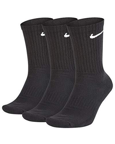 Nike EverydayCushioned Training Socks Socken 3er Pack (L, black/white)