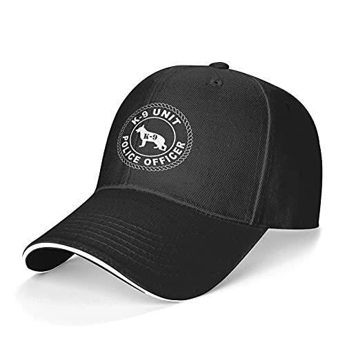 Police Military K9 Handler Mans Woman Headgear Cap Top Reinforced Unisex Baseball Cap Black