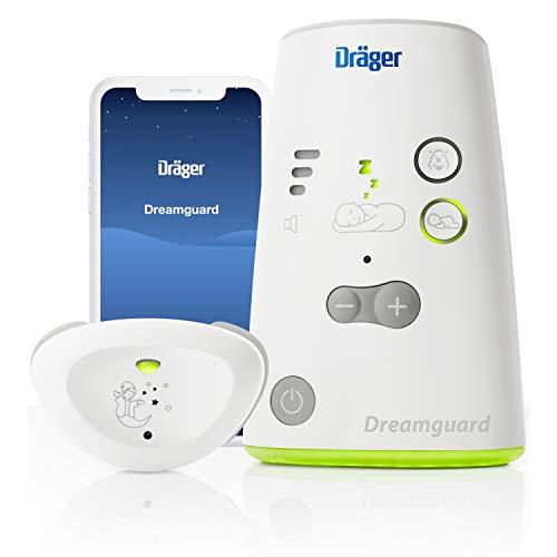 Dräger Dreamguard smarter Baby-Bewegungssensor mit integriertem Babyphone | Baby-Monitor mit App-Nutzung auf dem Smartphone | Für zuhause & unterwegs