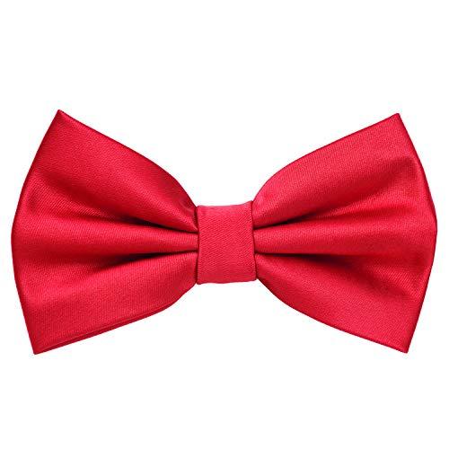 MASADA Papillon rosso - Accessorio da uomo, regolabile in modo continuo, fatto a mano con chiusura a gancio - 12 x 6 cm