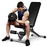 Aebow Weight Bench for Bench Press, Foldable Weights Bench Set, Flat Incline Decline Adjustable Lifting Home Gym Workout Weight Benches for Chest Leg Abs Full Body Strength Training Exercise