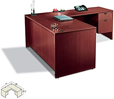 Executive Laminate L Shape Office Desk with Size Upgrade