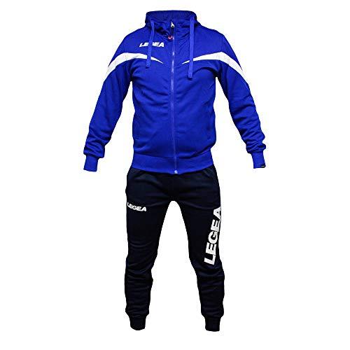 Perseo Sport Tuta Uomo Legea T110 Allenamento Fitness Calcio Tempo Libero - Tracksuite Men's Legea T093 Training Fitness Free Time … (M, Azzurro/Blu)