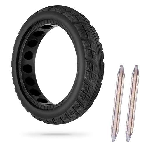 AGPTEK Reifen Felge, Frei Ersatz Solide Felge Ersatzreifen mit 2 Felgenheber, für Xiaomi M365 Elektro-Scooter Gummi Solid Tyre Reifen Ersatzräder