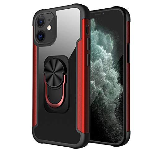 HHF - Teléfono móvil con accesorios para iPhone 12 Pro Max 11 Max Pro, transparente, ultra delgada, soporte para teléfono iPhone 12 Mini