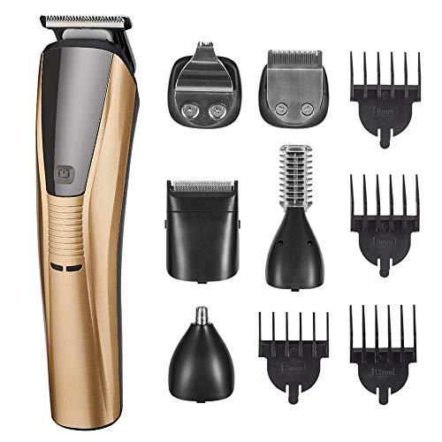 Hair Trimmer For Men, Cordless 6 in 1 waterdichte Multifunctionele Kit voor baard, neus, oren, lichaam, schoonheid, 90 Minute Run Time
