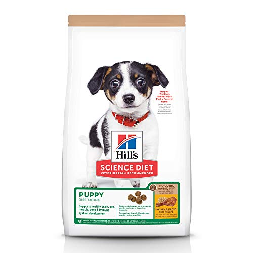 Hill's Science Diet Puppy No Corn, Wheat or Soy Dry Dog Food, Chicken Recipe, 4 lb Bag