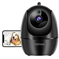 2-Way Audio and 2.4 GHz Wifi Connection. Netvue dog camera allows you to keep in touch with your family or pets anywhere anytime with built-in speaker, this pet camera creates a perfect two-way conversation with noise filter technology. Note: The 2-w...