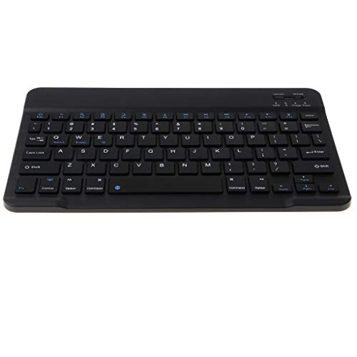 Tragbare Bluetooth Wireless Keyboard QWERTY Tastatur mit Touchpad für iMac iPad Android Telefon Tablet PC - 10,1 Zoll schwarz