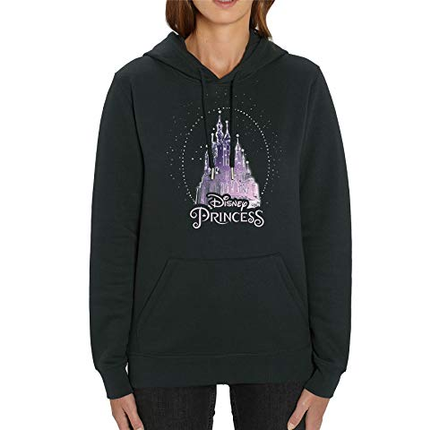 Disney Princess' Sparkle Castle Adults Unisex Black Printed Hoodie
