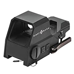 Rugged 6061-T6 aluminum body and protective shield Advanced optical coatings, Scratch resistant lens System 4 Red/green reticle options with 10 brightness settings Quick Detach mount for easy on/off application Auto shut-off and Low battery indicator...