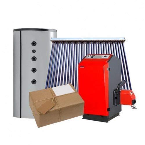 ATMOS Pelletkessel Rundum Sorglos Paket P21 für Heizung & Warmwasser & Solar