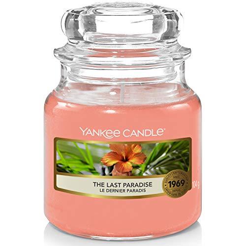 """Yankee Candle - Candela profumata in barattolo piccolo, con scritta """"The Last Paradise"""", durata della combustione: fino a 30 ore"""