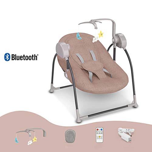 ZWQ kids Chaise berçante, Table Berceau Pliant bébé, Chaise Confort Nouveau-né endormi, Shaker Enfant, adapté pour 0-2 bébé,B