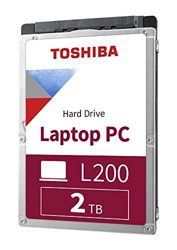 """Toshiba HDWL120XZSTA L200 2TB Laptop PC Internal Hard Drive 5400 RPM SATA 6Gb/s 128 MB Cache 2.5"""" 9.5mm Height - 2000 Internal Bare/OEM Drive"""