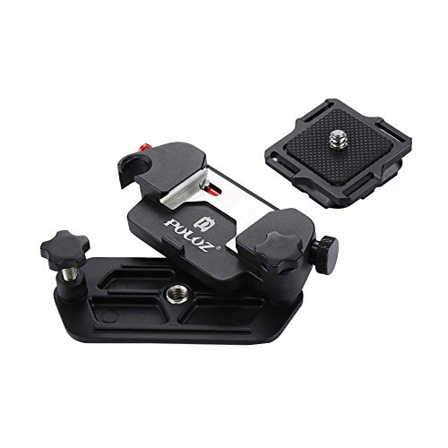 Camera Clip Aluminum Alloy Quick Release Clip with Plate with 1/4 Tripod Screws for DSLR