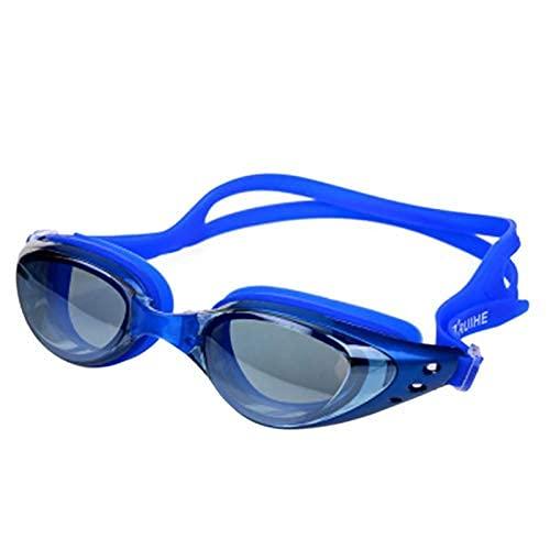 LZZB Antivaho Protección UV Gafas de natación Ajustables Hombres Mujeres Gafas de Silicona Impermeables Gafas para Adultos (Color: SL)